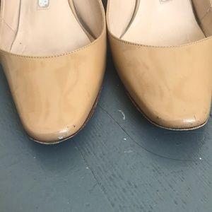 15dcb4c44042e Manolo Blahnik Shoes - Manolo Blahnik Allurasa - nude patent slingbacks